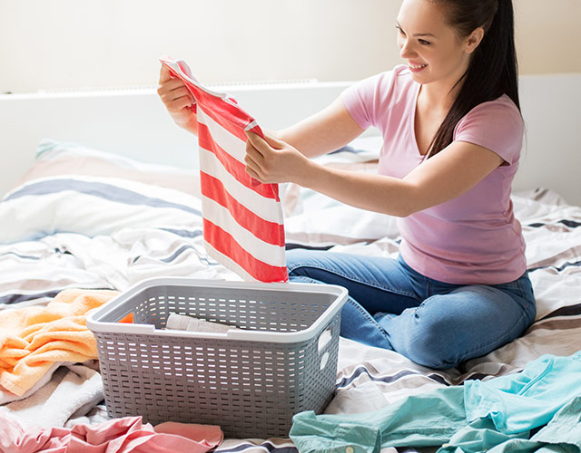 Sort and pre-treat your laundry at home